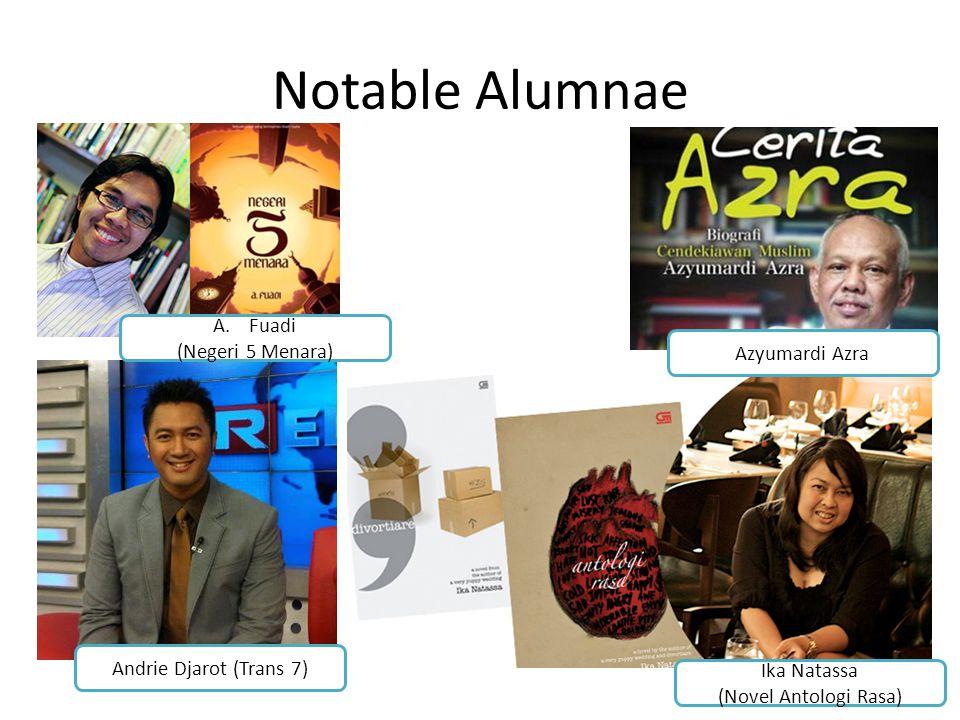 Notable Alumnae Fuadi (Negeri 5 Menara) Azyumardi Azra