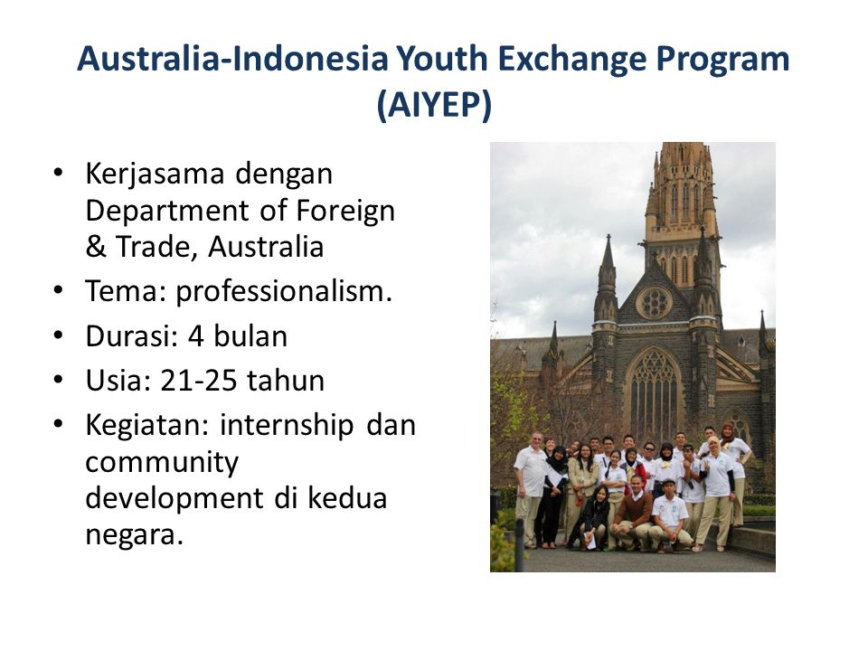 Australia-Indonesia Youth Exchange Program (AIYEP)