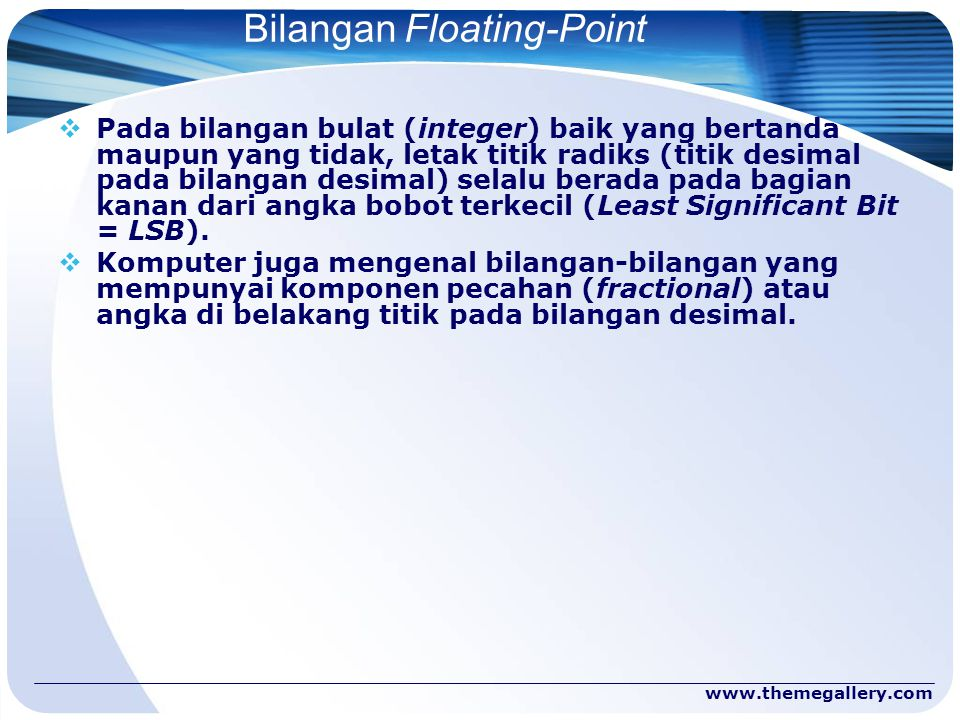 Bilangan Floating-Point