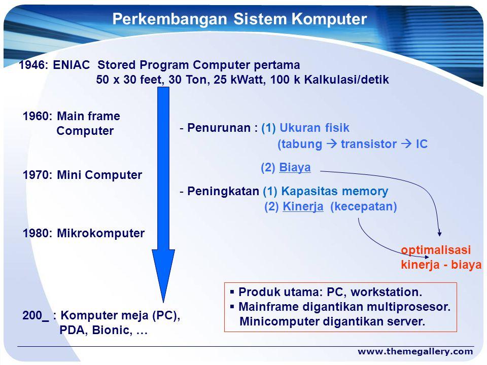 Perkembangan Sistem Komputer