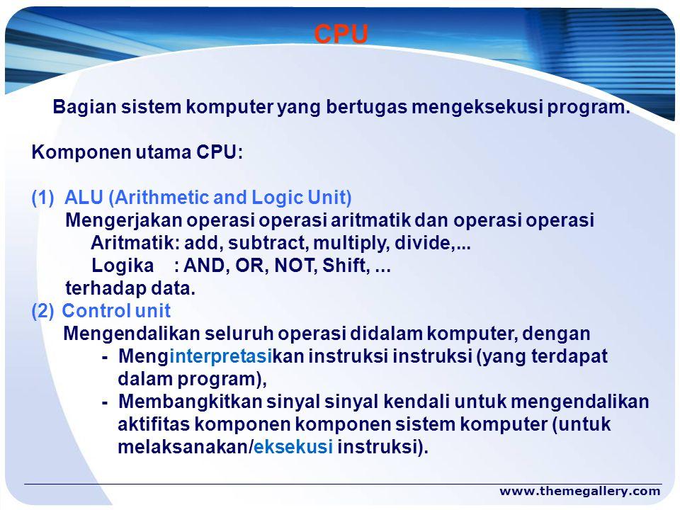 Bagian sistem komputer yang bertugas mengeksekusi program.