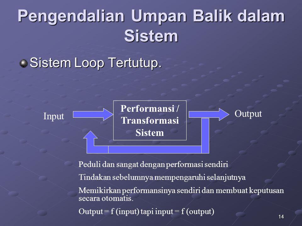 Pengendalian Umpan Balik dalam Sistem