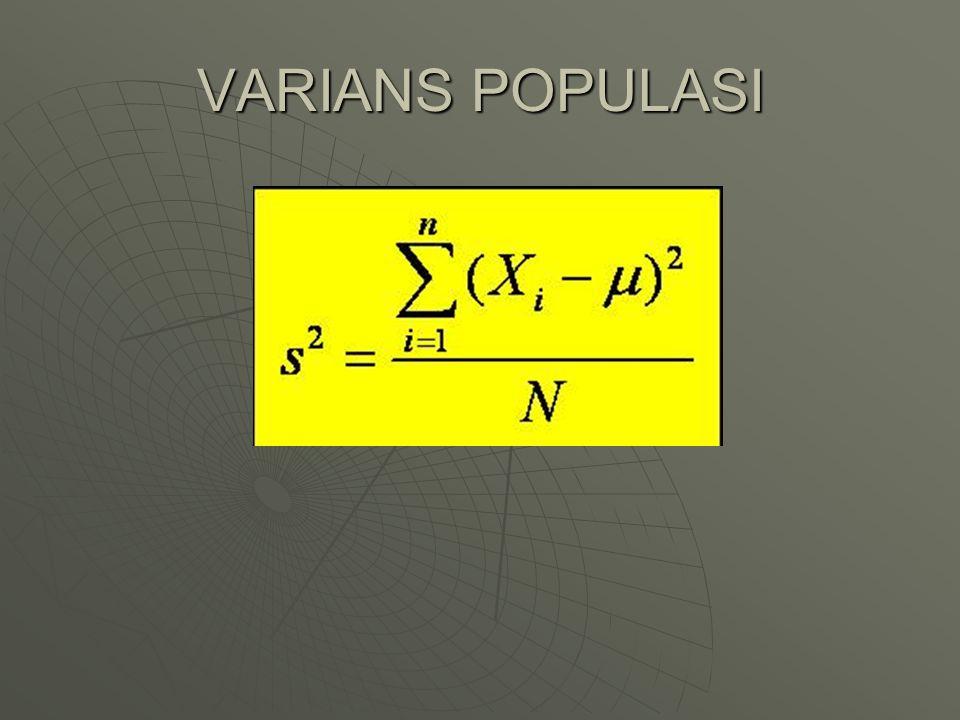 VARIANS POPULASI