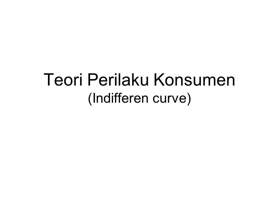 Teori Perilaku Konsumen (Indifferen curve)