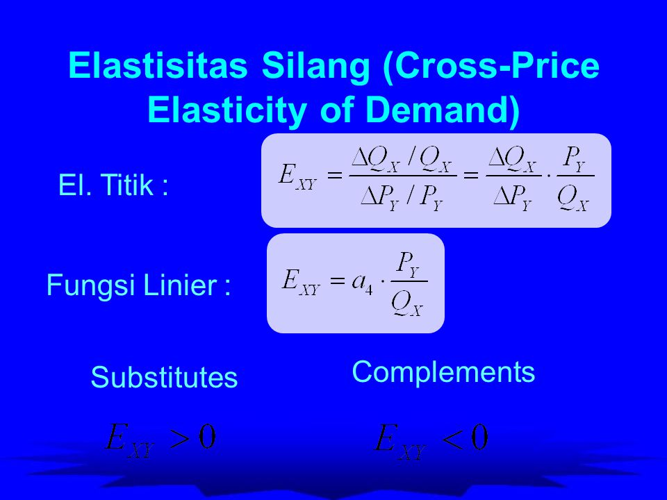 Elastisitas Silang (Cross-Price Elasticity of Demand)