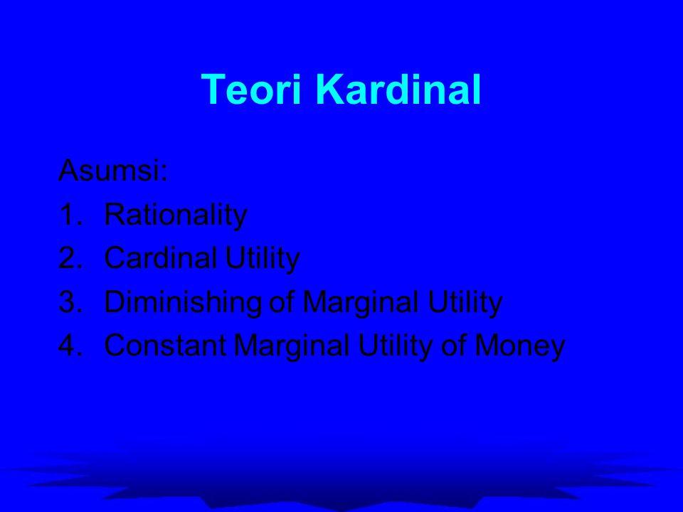 Teori Kardinal Asumsi: Rationality Cardinal Utility