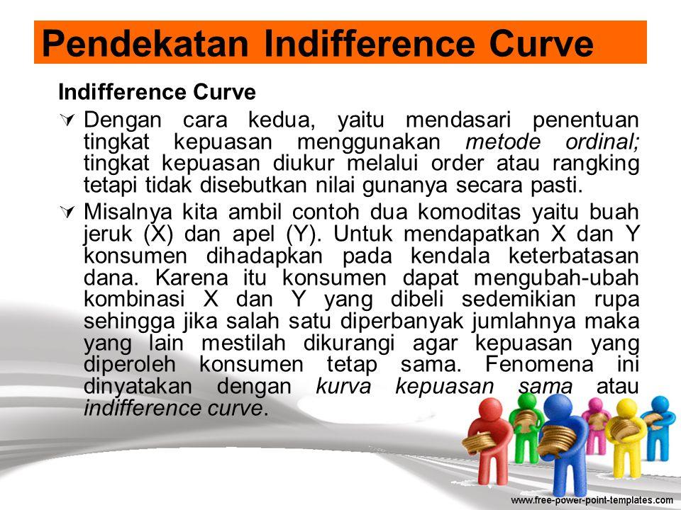 Pendekatan Indifference Curve