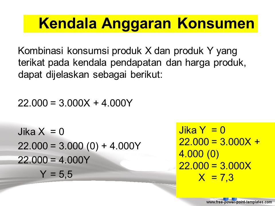 Kendala Anggaran Konsumen