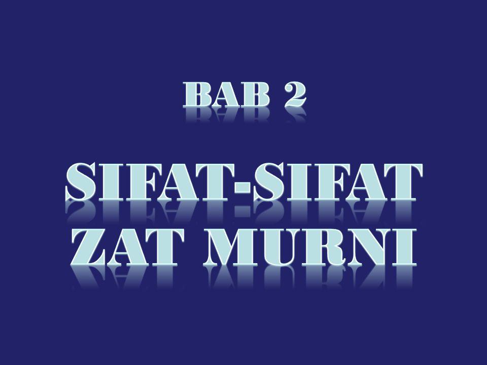 BAB 2 SIFAT-SIFAT ZAT MURNI