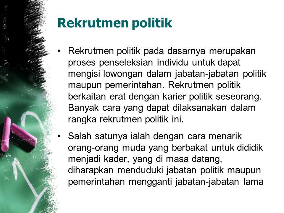 Rekrutmen politik