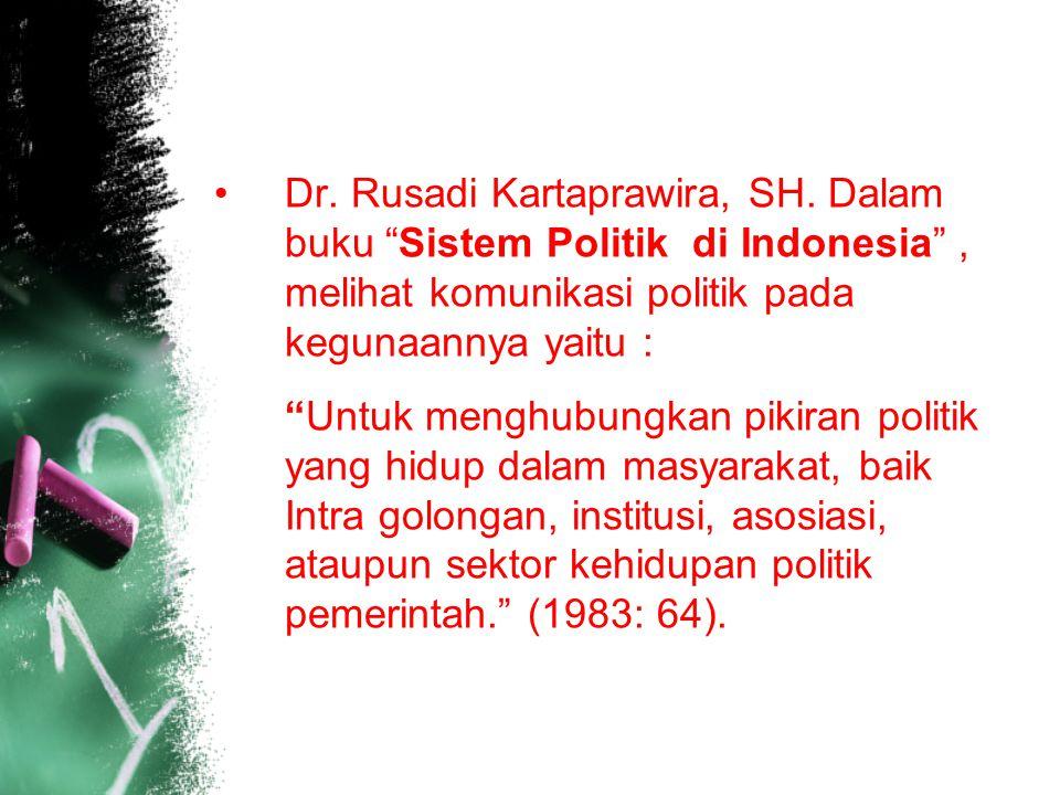 Dr. Rusadi Kartaprawira, SH