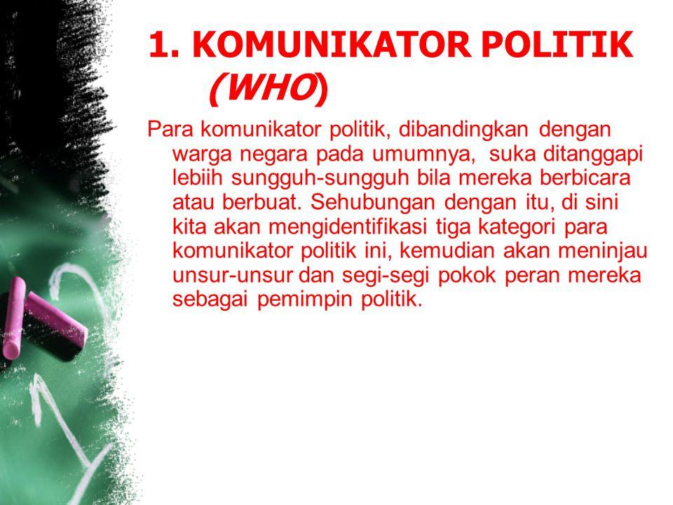 1. KOMUNIKATOR POLITIK (WHO)