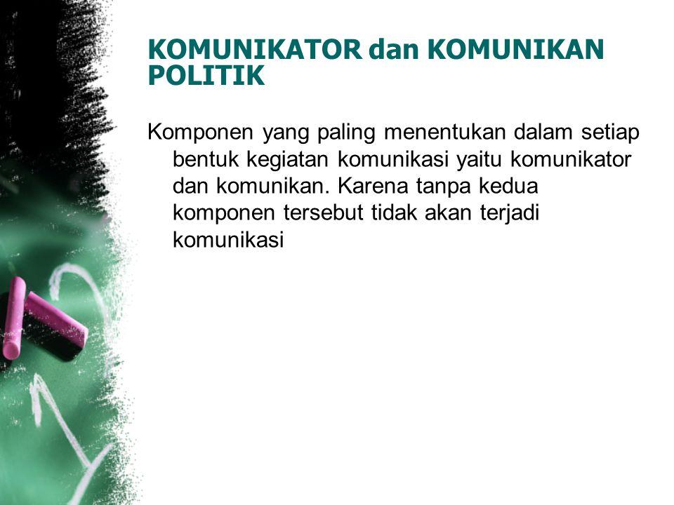 KOMUNIKATOR dan KOMUNIKAN POLITIK