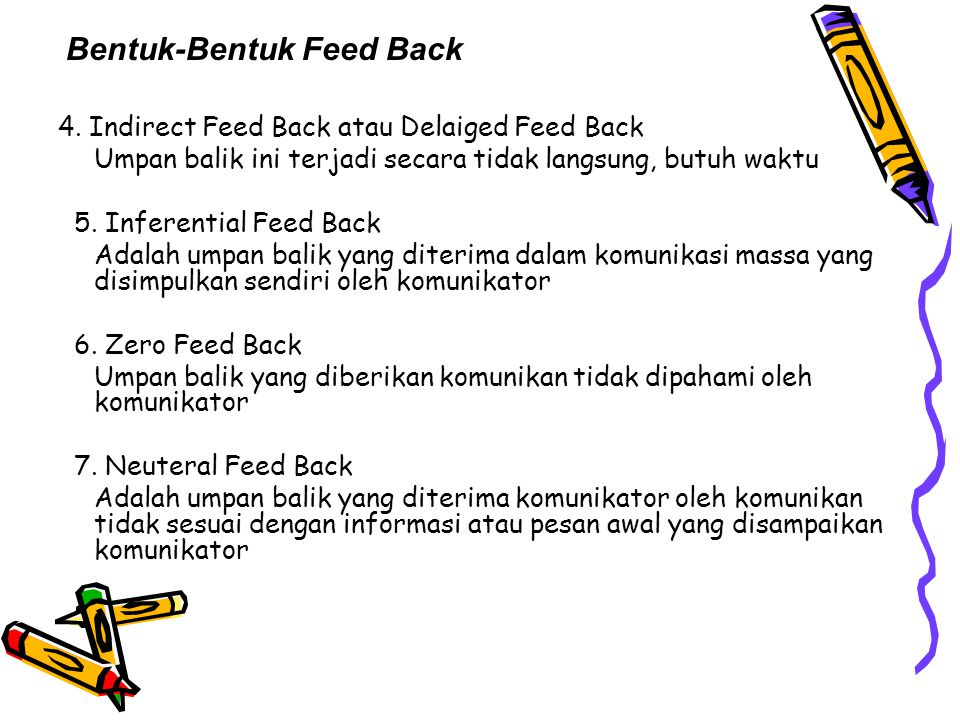Bentuk-Bentuk Feed Back