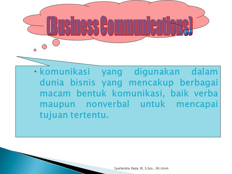 (Business Communications)