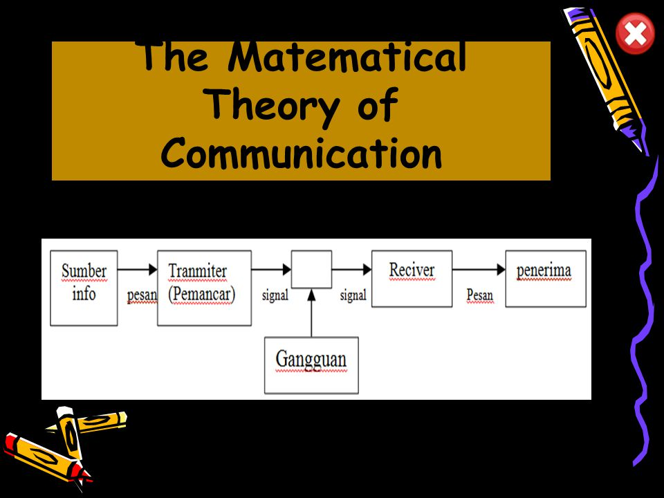The Matematical Theory of Communication
