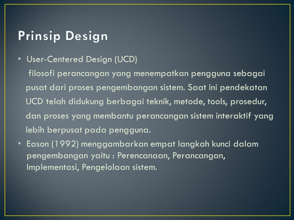 Prinsip Design User-Centered Design (UCD)
