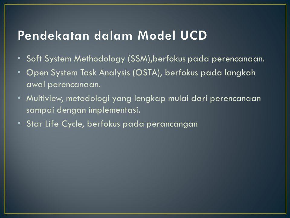 Pendekatan dalam Model UCD