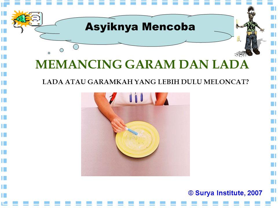 MEMANCING GARAM DAN LADA