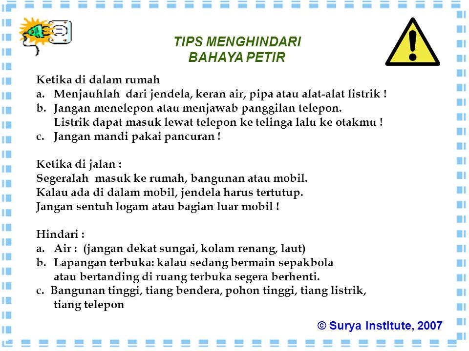 TIPS MENGHINDARI BAHAYA PETIR