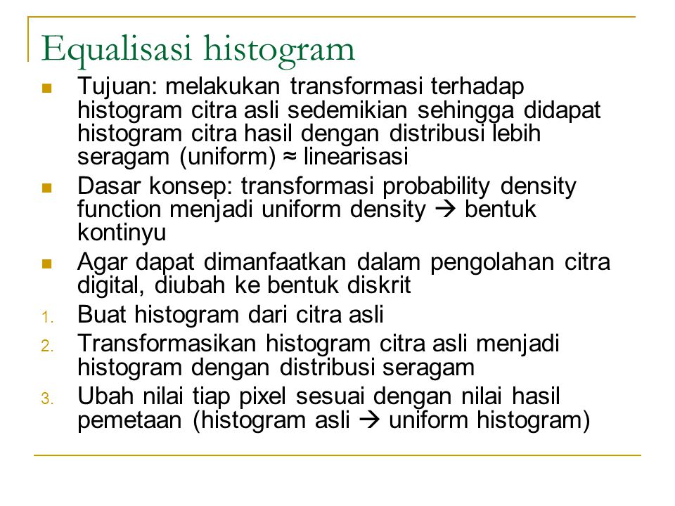 Equalisasi histogram