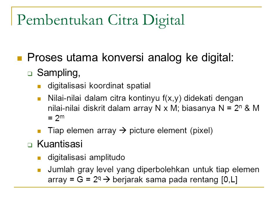 Pembentukan Citra Digital