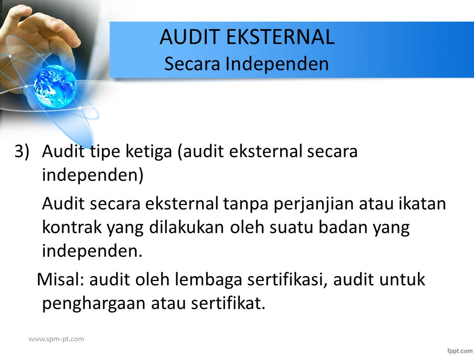 AUDIT EKSTERNAL Secara Independen