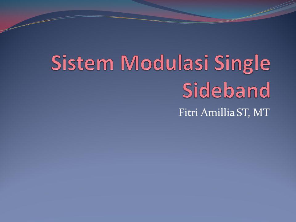 Sistem Modulasi Single Sideband