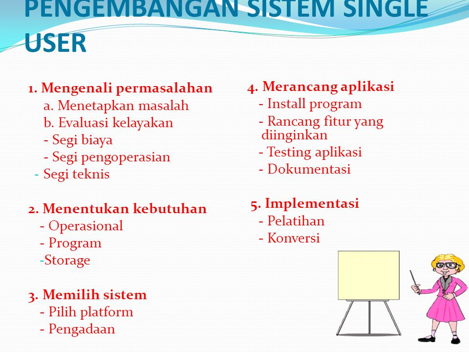 PENGEMBANGAN SISTEM SINGLE USER