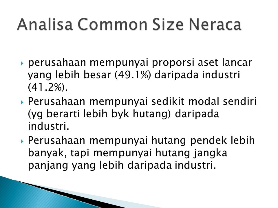 Analisa Common Size Neraca