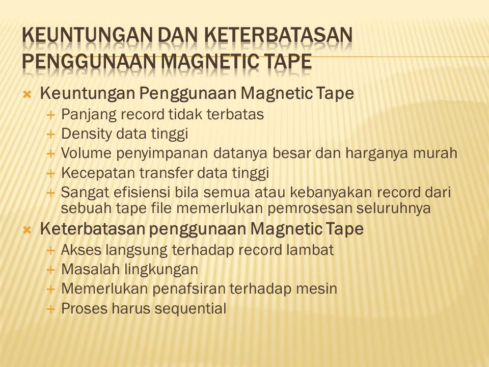Keuntungan dan keterbatasan penggunaan magnetic tape