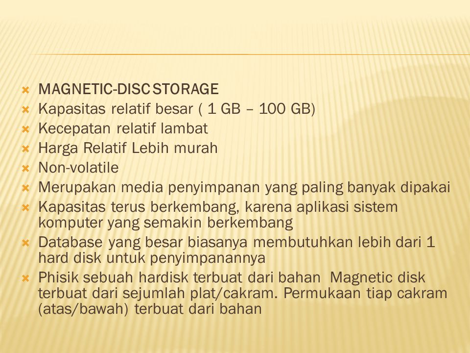 MAGNETIC-DISC STORAGE