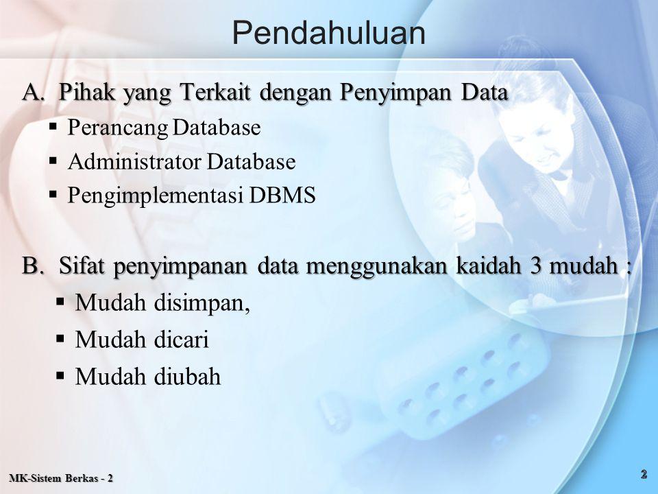 Pendahuluan Pihak yang Terkait dengan Penyimpan Data