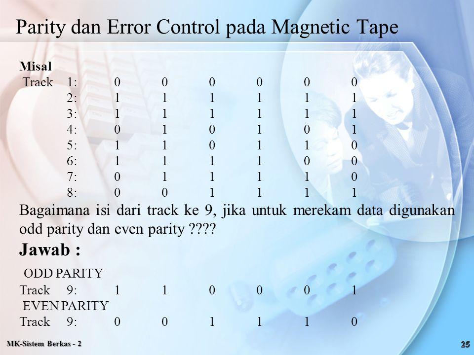 Parity dan Error Control pada Magnetic Tape