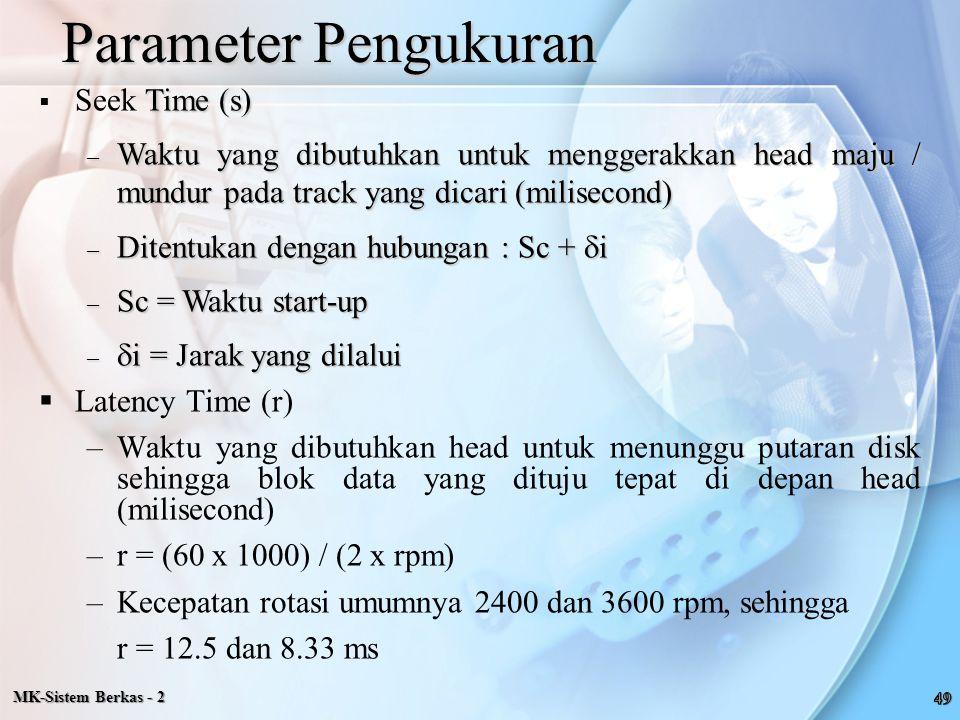 Parameter Pengukuran Seek Time (s)