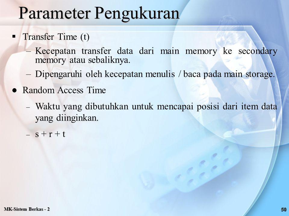 Parameter Pengukuran Transfer Time (t)