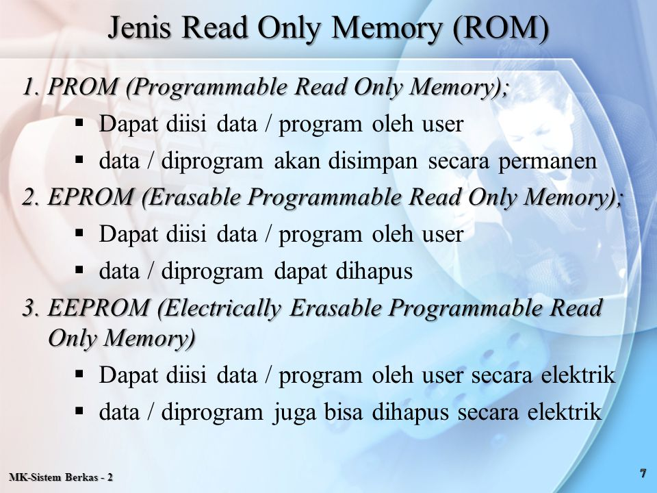 Jenis Read Only Memory (ROM)