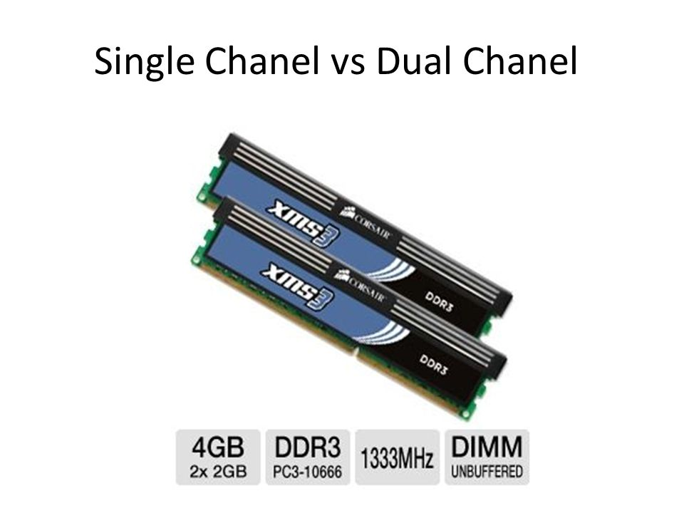 Single Chanel vs Dual Chanel
