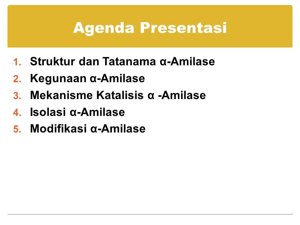 Agenda Presentasi Struktur dan Tatanama α-Amilase Kegunaan α-Amilase