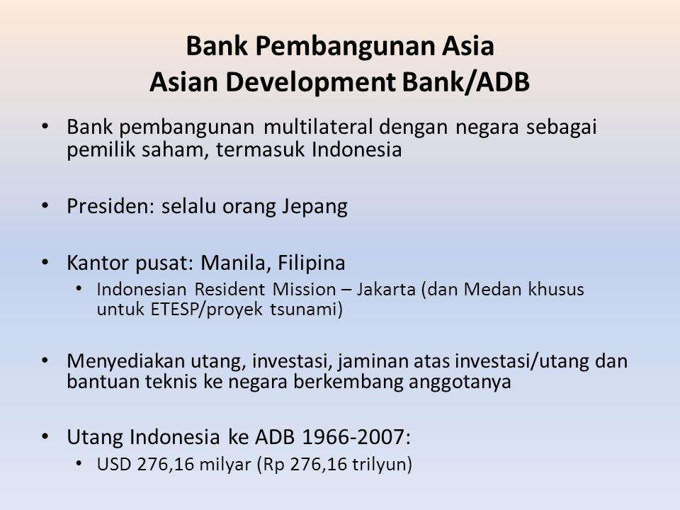 Bank Pembangunan Asia Asian Development Bank/ADB
