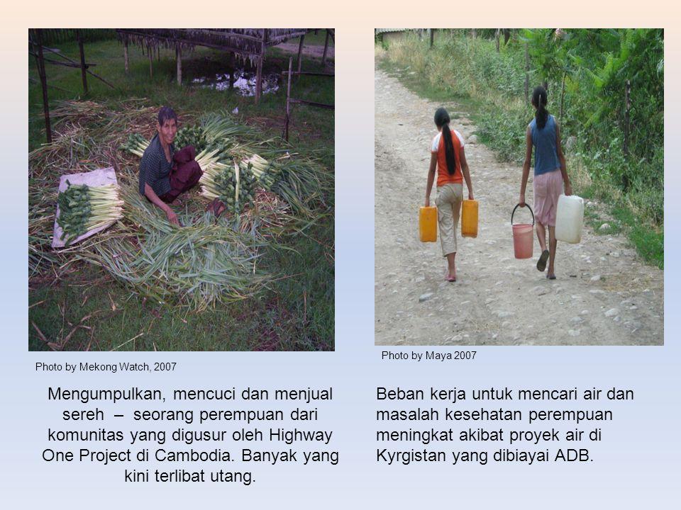 Photo by Maya 2007 Photo by Mekong Watch, 2007.