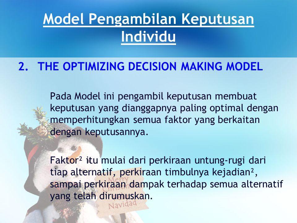 Model Pengambilan Keputusan Individu