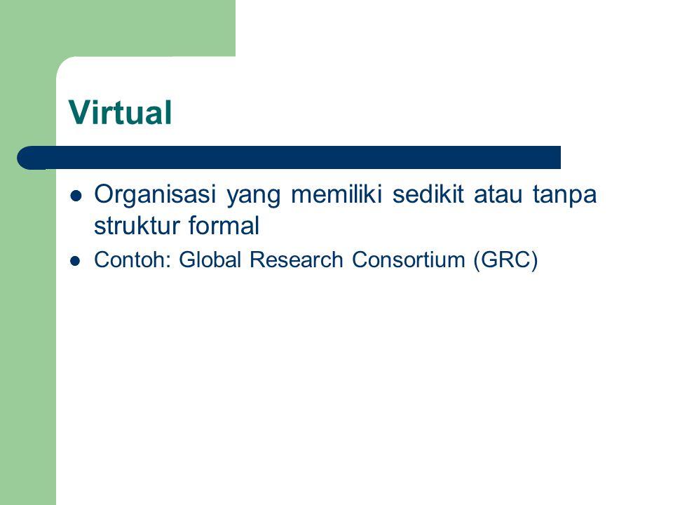 Virtual Organisasi yang memiliki sedikit atau tanpa struktur formal
