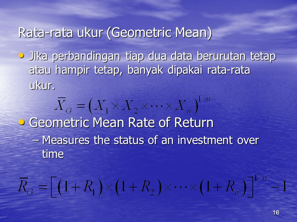 Rata-rata ukur (Geometric Mean)
