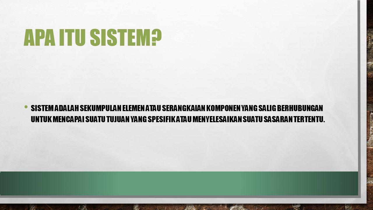 Apa itu sistem