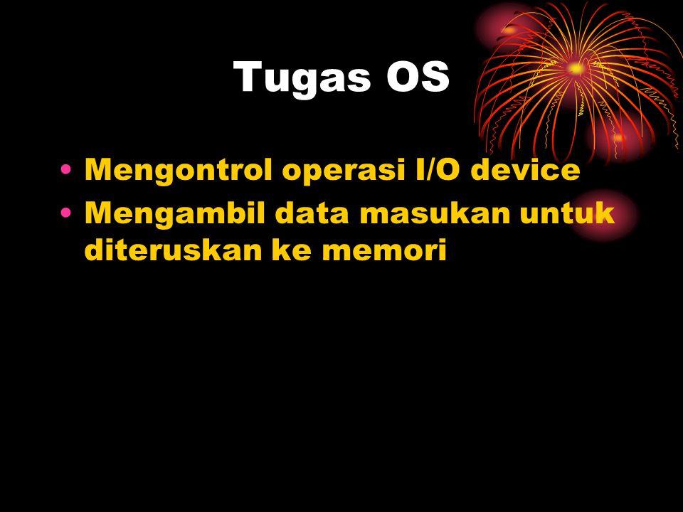 Tugas OS Mengontrol operasi I/O device