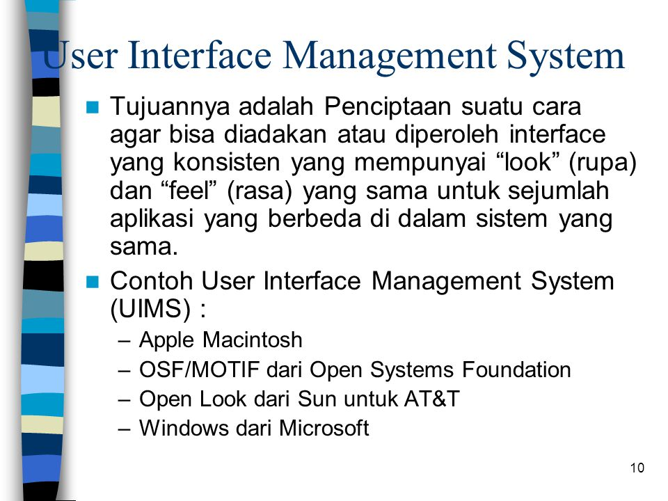 User Interface Management System