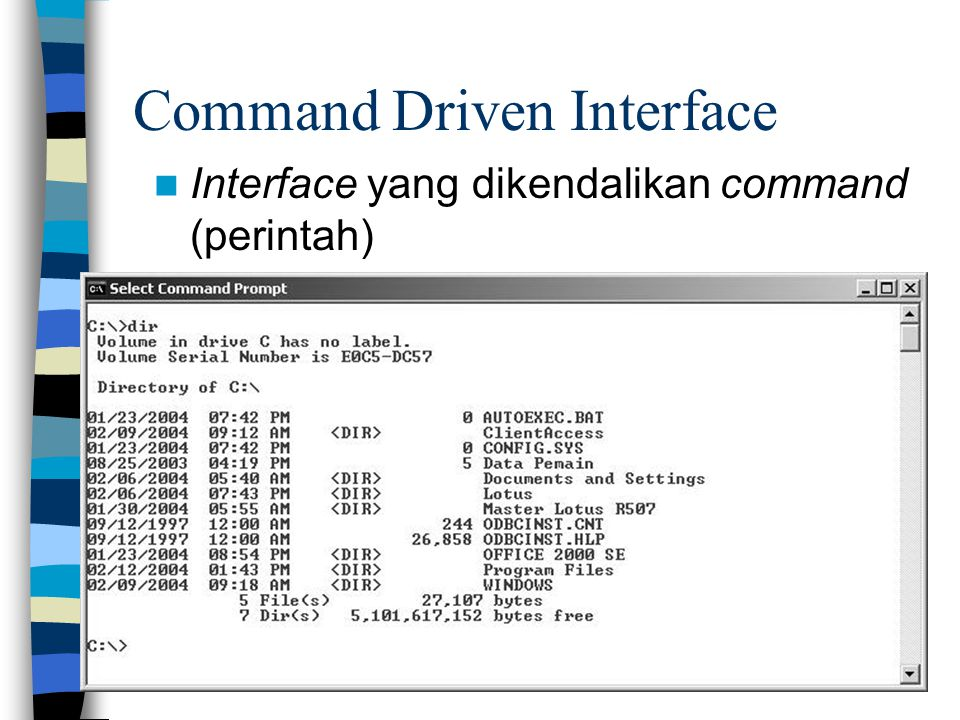 Command Driven Interface