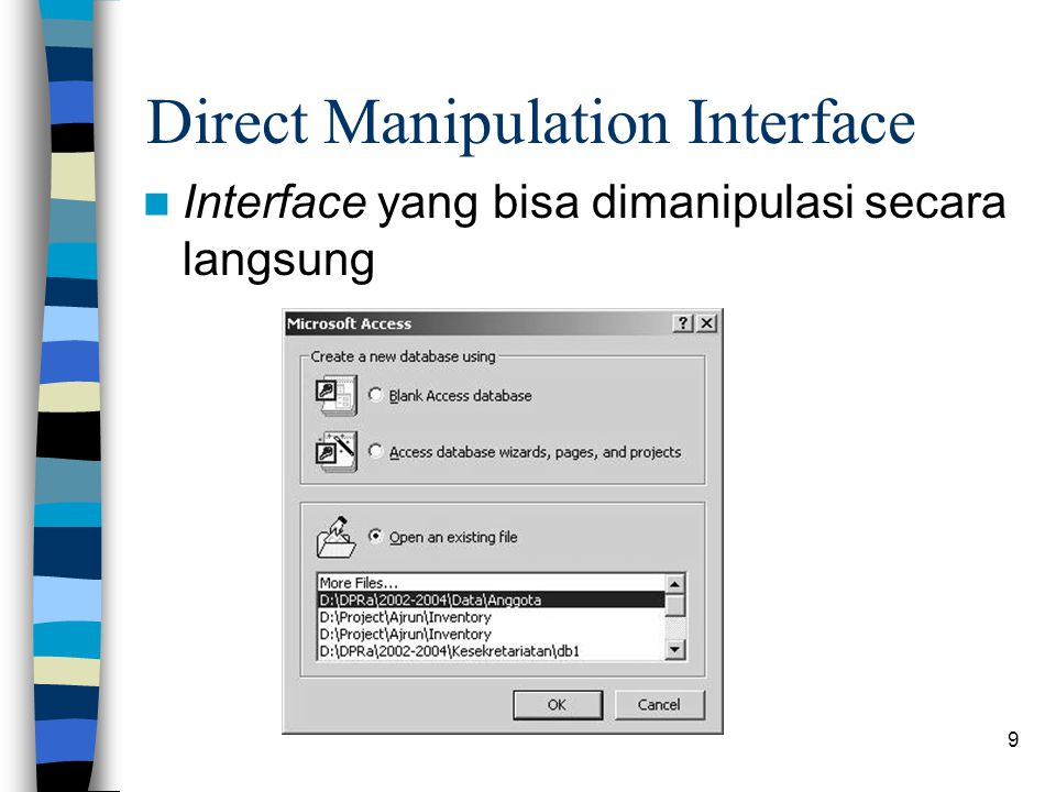Direct Manipulation Interface