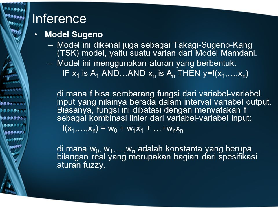 Inference Model Sugeno